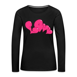 Love Bubble heart Style - Frauen Premium Langarmshirt