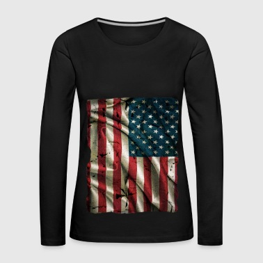 Vintage USA Flag - Women's Premium Longsleeve Shirt