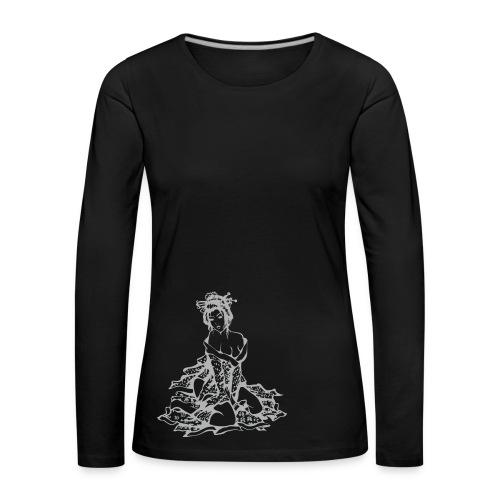 Geisha (grey) - Frauen Premium Langarmshirt