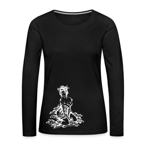 Geisha (white) - Frauen Premium Langarmshirt