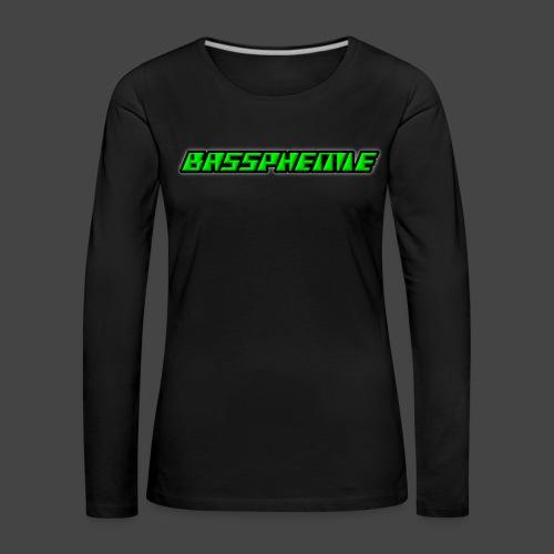 Bassphemie - Neongrün - Frauen Premium Langarmshirt