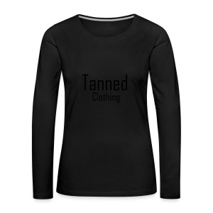 Tanned Black - Women's Premium Longsleeve Shirt