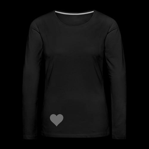 hearth design tee - Dame premium T-shirt med lange ærmer