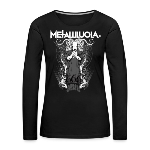 Metalliluola logo ja Demoniac 666 - Naisten premium pitkähihainen t-paita