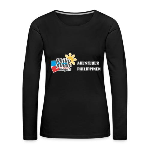 Philippinen-Blog Logo deutsch schwarz/weiss - Frauen Premium Langarmshirt
