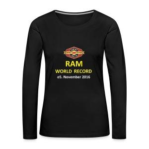 RWR gelb mit Datum (weiß) - Frauen Premium Langarmshirt