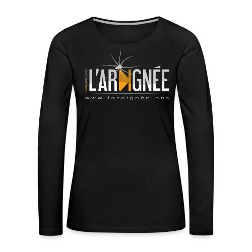 L'Araignée, le logo clair pour fond foncés - T-shirt manches longues Premium Femme
