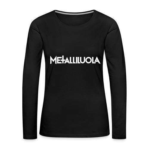 Metalliluola logo - Naisten premium pitkähihainen t-paita