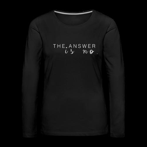 NO Collection - Premium langermet T-skjorte for kvinner