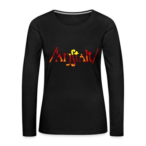 logo gerastert (flamme) - Frauen Premium Langarmshirt