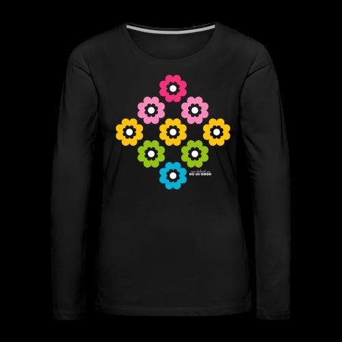 RAINBOW BLOOM - Naisten premium pitkähihainen t-paita