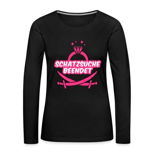 Schatzsuche beendet - JGA T-Shirt - JGA Shirt - Frauen Premium Langarmshirt