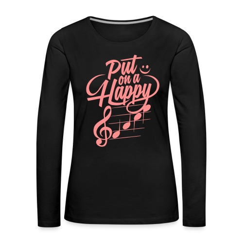 happy face colorize - Frauen Premium Langarmshirt