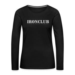 IRONCLUB - a way of life for everyone - Premium langermet T-skjorte for kvinner