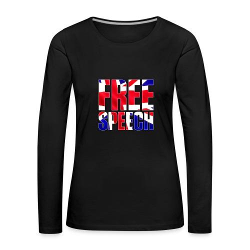 Free Speech UK Alt.1 - Women's Premium Longsleeve Shirt