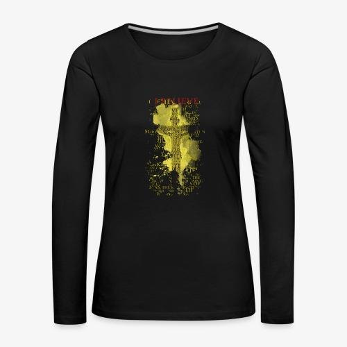 I believe / wierzę (yellow-żółty) - Koszulka damska Premium z długim rękawem
