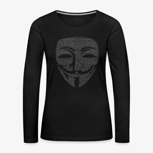 Guy Fawkes Mask Binary - Women's Premium Longsleeve Shirt