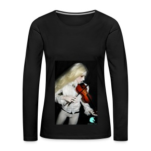 Vampire Violin Gothic Music Fantasy Enchanted - Women's Premium Longsleeve Shirt