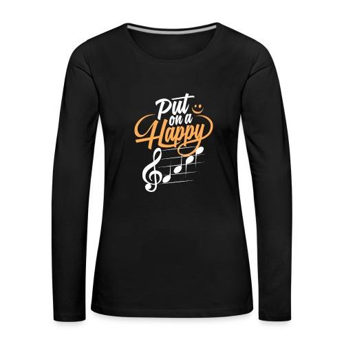 happy face - Frauen Premium Langarmshirt