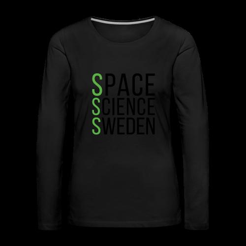 Space Science Sweden - svart - Långärmad premium-T-shirt dam