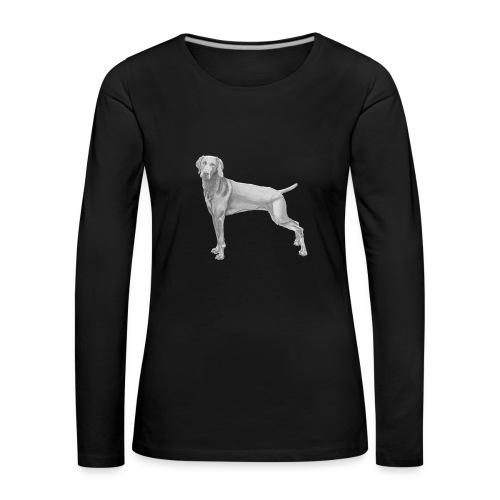 weimaraner - Dame premium T-shirt med lange ærmer