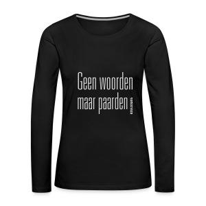 GWMP - Vrouwen Premium shirt met lange mouwen
