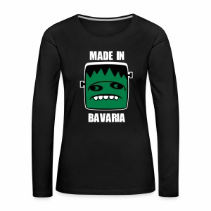 Fonster weiß made in Bavaria - Frauen Premium Langarmshirt