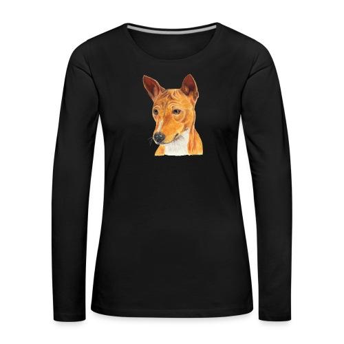 Basenji - Dame premium T-shirt med lange ærmer