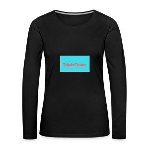 TripleTeam Logo - Vrouwen Premium shirt met lange mouwen