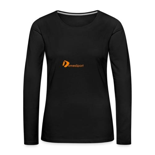 Logo DomesSport Orange noBg - Frauen Premium Langarmshirt