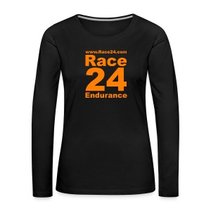 Race24 Logo in Orange - Women's Premium Longsleeve Shirt