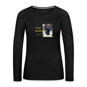 Weintraube - I love gardening - Frauen Premium Langarmshirt