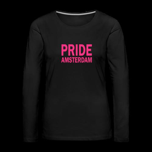 Pride Amsterdam in roze - Vrouwen Premium shirt met lange mouwen