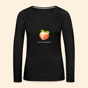 Look my peach in white - Women's Premium Longsleeve Shirt