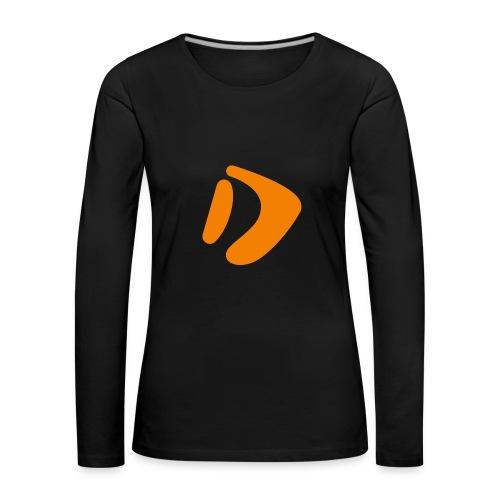 Logo D Orange DomesSport - Frauen Premium Langarmshirt