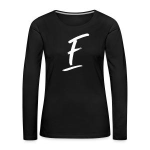 Radio Fugue F Blanc - T-shirt manches longues Premium Femme