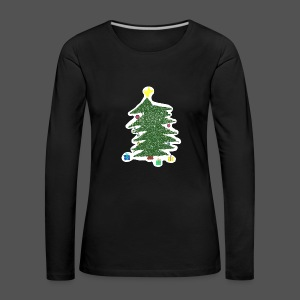 Christmas Kids-Drawing - Frauen Premium Langarmshirt