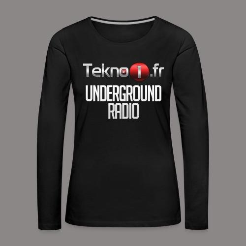 logo tekno1 2000x2000 - T-shirt manches longues Premium Femme
