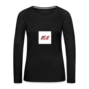 808 red on white box logo - Women's Premium Longsleeve Shirt