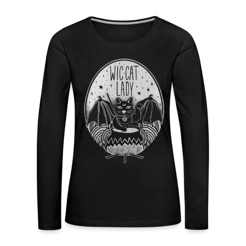 Wic-cat lady halloween shirt - Women's Premium Longsleeve Shirt