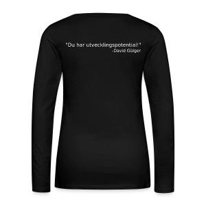 Ju jutsu kai förslag 1 version 1 vit text - Långärmad premium-T-shirt dam