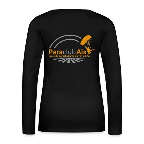 Paraclubaix black - T-shirt manches longues Premium Femme