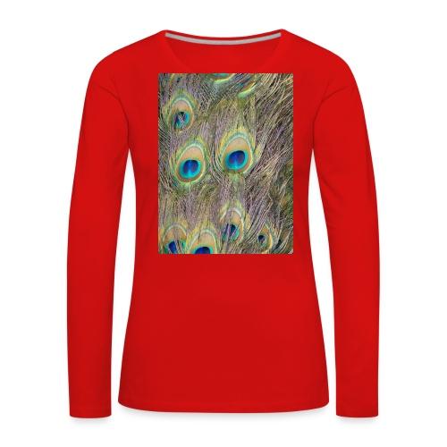 Peacock feathers - Naisten premium pitkähihainen t-paita