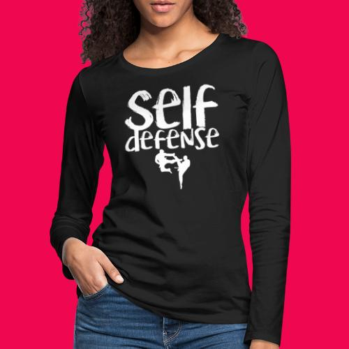 Self Defense 1.0 - Frauen Premium Langarmshirt