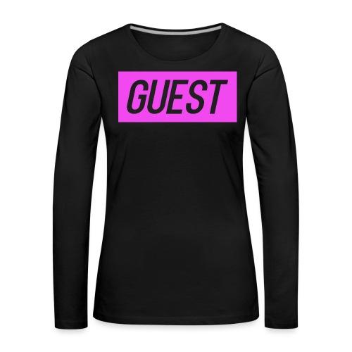 guest rectangle (pink) - Women's Premium Longsleeve Shirt