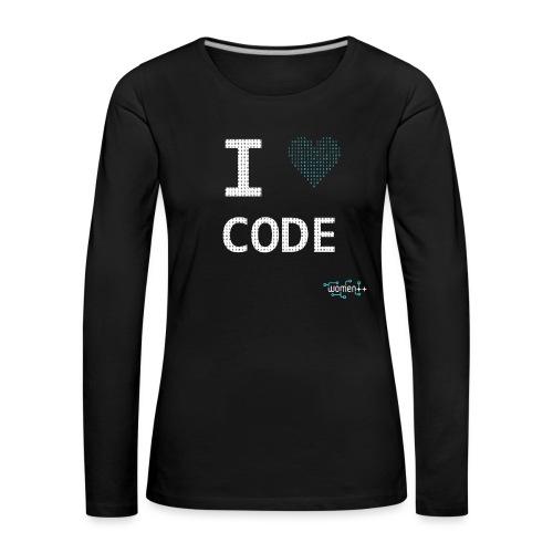 I <3 code - T-shirt manches longues Premium Femme