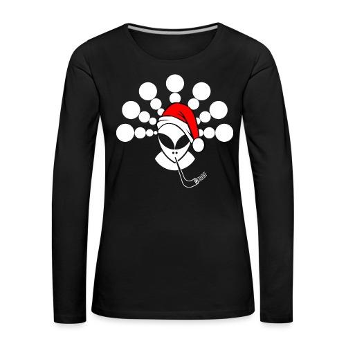 Christmas Alien White - Women's Premium Longsleeve Shirt