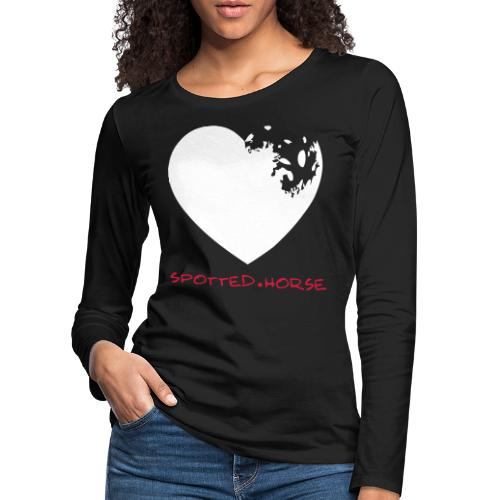 Cuore Appaloosa Spotted.Horse - Maglietta Premium a manica lunga da donna