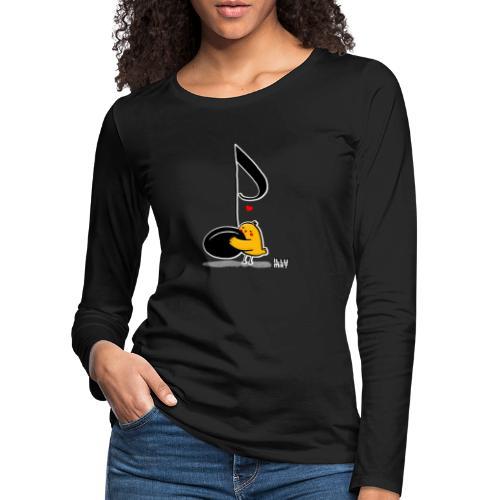 LYD 0001 02 music was my fist love - Frauen Premium Langarmshirt