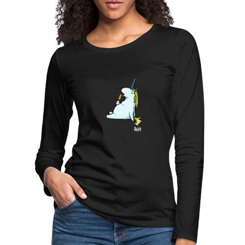 STE 0006 00 Eis Einhorn - Frauen Premium Langarmshirt
